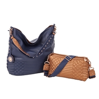 Sydney Love Quilted Reversible Hobo & Crossbody Set