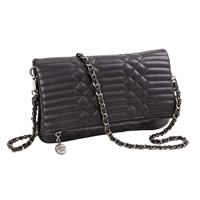 Sydney Love Quilted Vegan Leather Fold-Over Clutch
