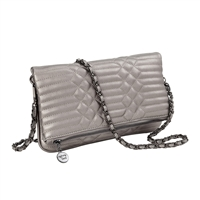 Sydney Love Metallics Quilted Fold-Over Clutch