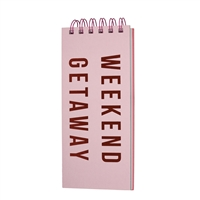 Weekend Getaway Top Spiral Hardcover Notepad