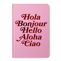 Hello from Around The World Bound Hardcover Journal