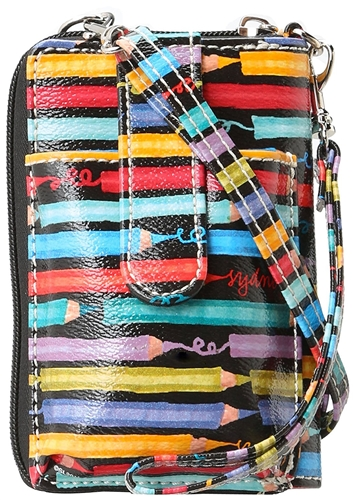 Sydney Love Colored Pencil Cell Phone Wallet Crossbody Bag