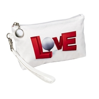 Golf Love Wristlet Travel Cosmetic Case