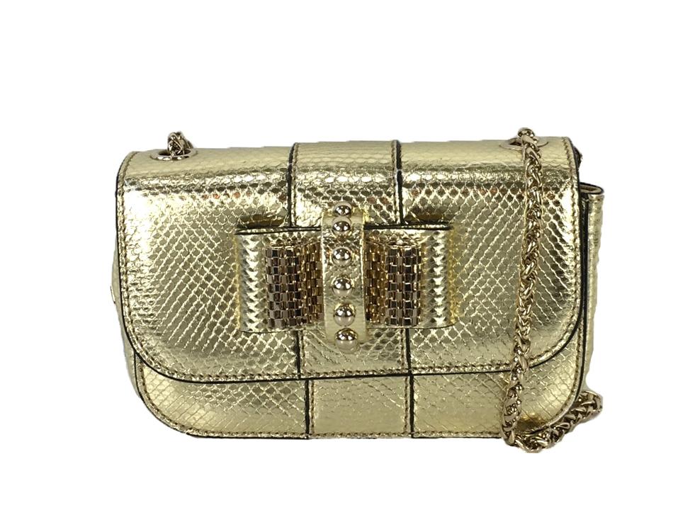 b2278ba0df9 Christian Louboutin Sweety Charity Watersnake Mini Crossbody Bag ...