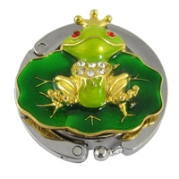 Frog Prince Portable Handbag Hanger Purse Hook