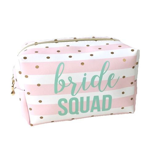 Bride Squad XL Zip Travel Cosmetic Loaf Case