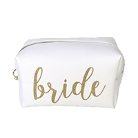 Bride Gold Script XL Cosmetic Loaf Zip Case