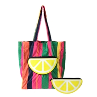 Tori Lemon Packable Eco Shopping Tote