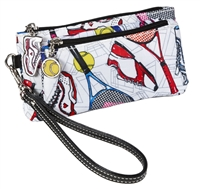 Sydney Love Sport Tennis Everyone Double Zip Wristlet