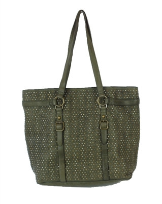 Ash Axel Studded Leather Tote Bag