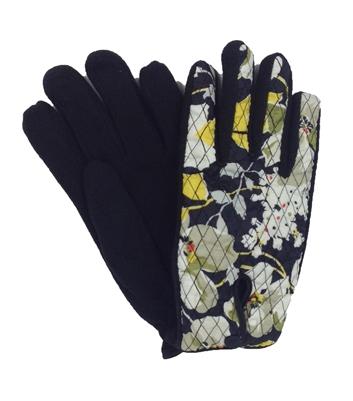 Vera Bradley Cozy Fleece Driving Gloves Dogwood S M