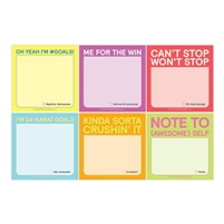 I'm So Goals Fun Sayings Sticky Note 6 Pack Packet 240 Sheets