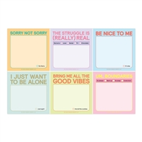 Current Mood Fun Sayings Sticky Note 6 Pack Packet 240 Sheets