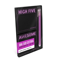 High Five Awesome Sticky Note Pads & Gel Pen Desk Set