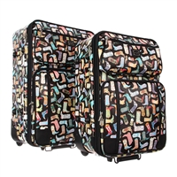Sydney Love Kickin It Cowgirl Boots 2 Piece Luggage Set