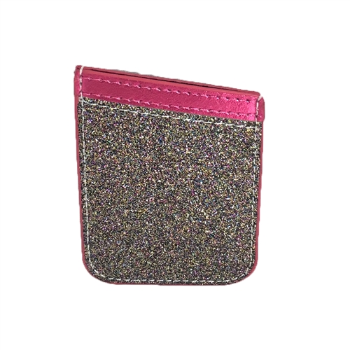 Glitter Encrusted Sticker Phone Pocket Card Holder