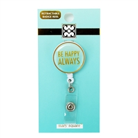 Be Happy Retractable Badge Reel