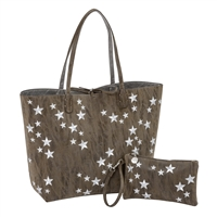 Sydney Love Stars Vegan Leather Reversible Tote Wristlet Set