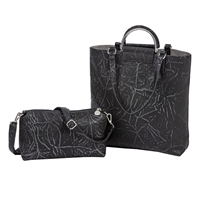 Sydney Love Metallic Distressed Vegan Leather Tote
