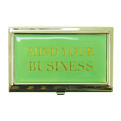 Mind Your Business Enamel Card Holder Case