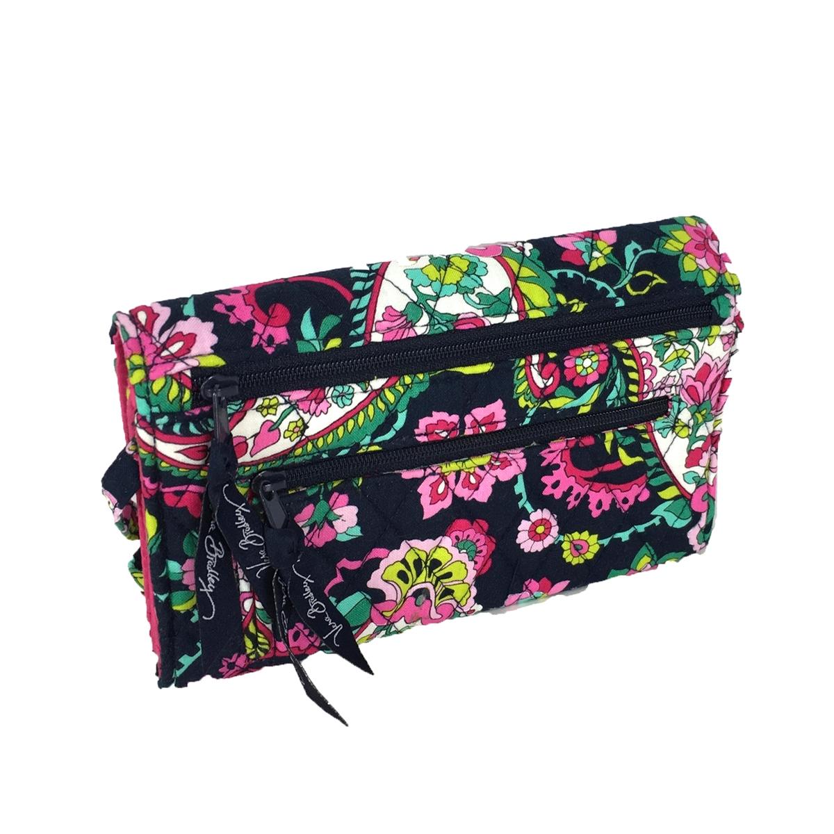 13b76c98f Vera Bradley Strap Wallet Crossbody Bag, Petal Paisley