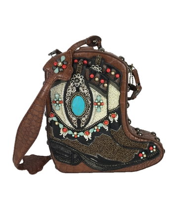 Mary Frances 'Two Step' Cowgirl Boot Handbag