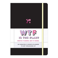 WTF ?! 12 Month Undated Agenda Hardcover Planner w Activity Stickers