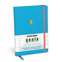 Crush Those Goals 12 Month Undated Agenda Hardcover Planner