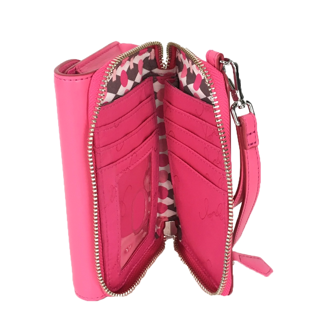 outlet store 6bb08 9bfb5 Vera Bradley Faux Leather iPhone 8 7 6 Smartphone Wristlet, Rouge Pink