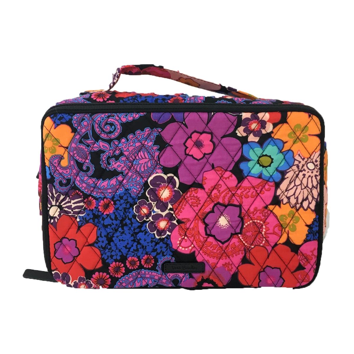 3023793c1239 Vera Bradley Iconic Large Blush and Brush Makeup Case
