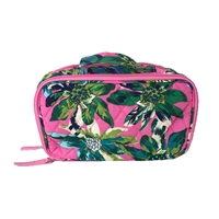 Vera Bradley Blush & Brush Cosmetic Train Case