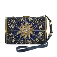 Mary Frances Celestial Zodiac Convertible Box Bag
