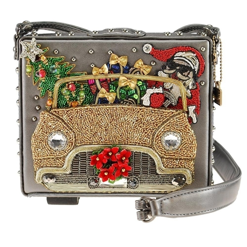 Mary Frances Santa Cruise Beaded Box Crossbody