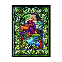 St Francis Stained Glass 1000 Pc Jigsaw Puzzle