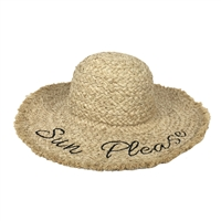 'Sun Please' Packable Woven Sun Hat