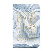 Better Things Ahead Marble Bound Journal Hardcover Notebook