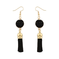 Jewelry Collection Caira Druzy Tassel Drop Earrings