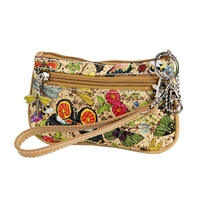 Sydney Love Botanical Print Nylon Mini Wristlet