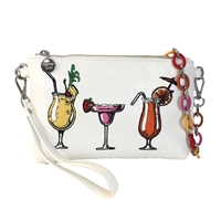 Sydney Love Happy Hour Vegan Leather Convertible Clutch Wristlet,