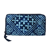 Vera Bradley RIFD Georgia Zip Around Wallet Cuban Tiles
