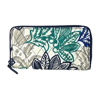 Vera Bradley RIFD Georgia Zip Around Wallet Santiago