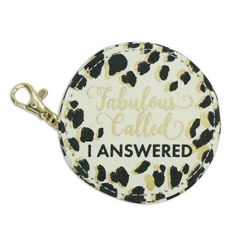 Fabulous Called I Answered  Multi Function Zip Case Earbud Holder