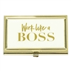 Work Like A Boss Business Card Holder