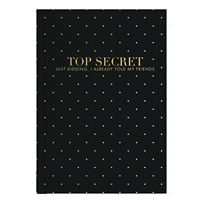 Top Secret Bound Journal Hardcover Notebook