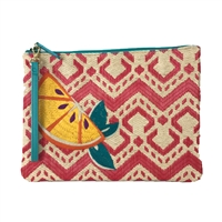 Vera Bradley Lemon Slice Straw Beach Wristlet