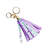 Salem Floral Print Ribbon Key Chain Bag Charm