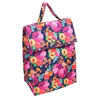 Raleigh Floral Print Lunch Sack Insulated Lunch Bag