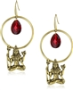 T.R.U. 1928 Jewelry Hoop Drop Goddess Earrings