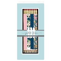 Picket Fence Polka Dot & Floral Boxed Pencil Set