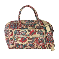 Vera Bradley Iconic Weekender Travel Carry On Bag